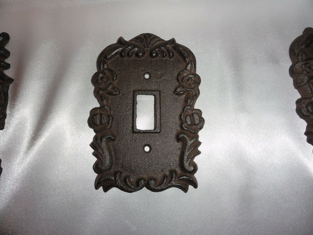 Cast Iron Single Light Switch Plate Shabby Cottage Cottage