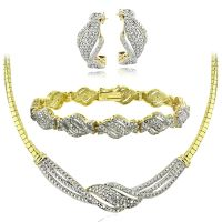 0.75 Ct Diamond Twist Necklace, Bracelet, Earrings Set