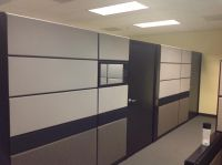 """Teknion TOS cubicles 80"""" tall 10'x10,8'x8' Private office"""