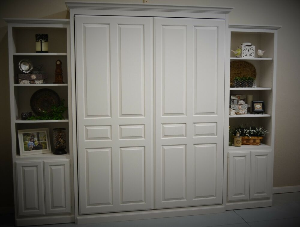 Custom Queen Size Murphy Bed with 24 cabinets  eBay