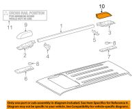 TOYOTA OEM 4Runner Roof Rack Rail Luggage Carrier-Rear ...