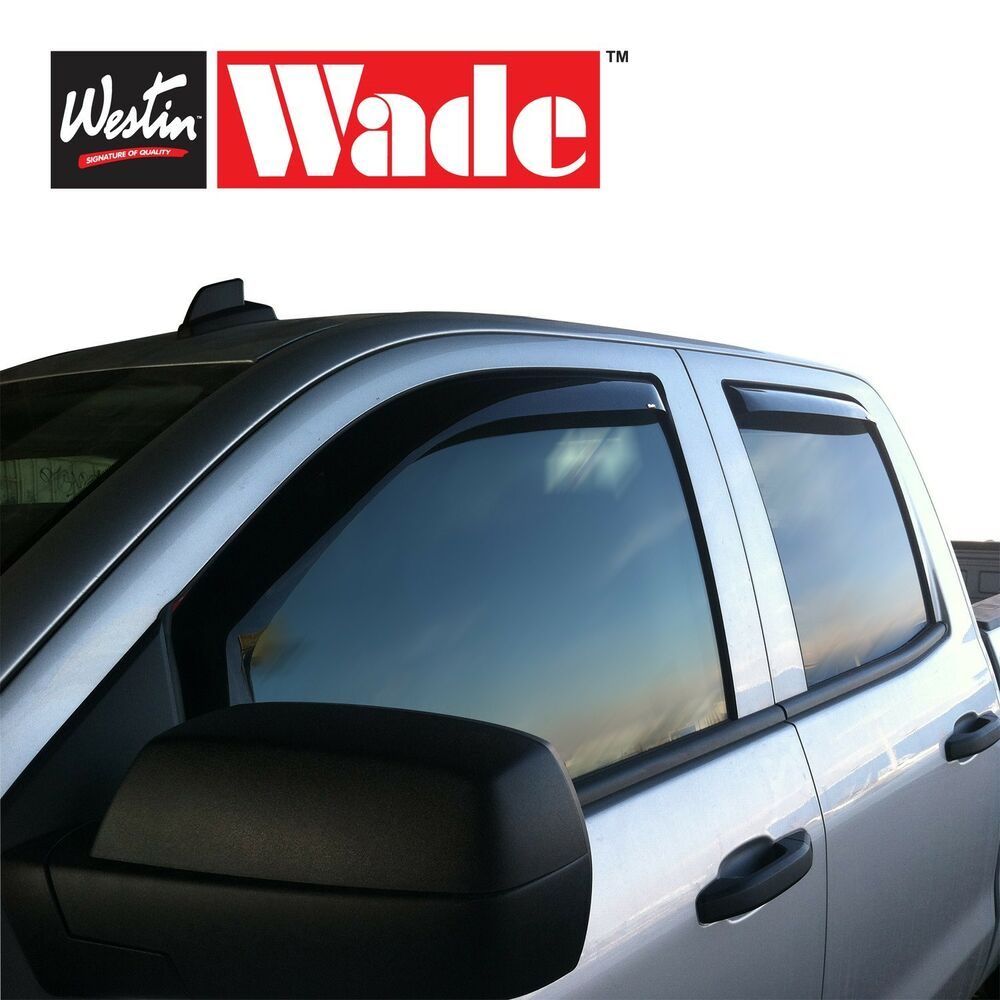 Ford Westin Window Wind Deflectors 4 Piece InChannel Wade Vent Visors  eBay