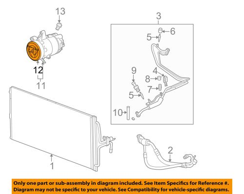 small resolution of details about gm oem compressor clutch 22692378