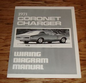 1971 Dodge Coro Charger Wiring Diagram Manual 71 | eBay
