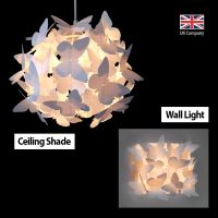 Matching Butterfly Ceiling Pendant Light Chandelier Lamp ...