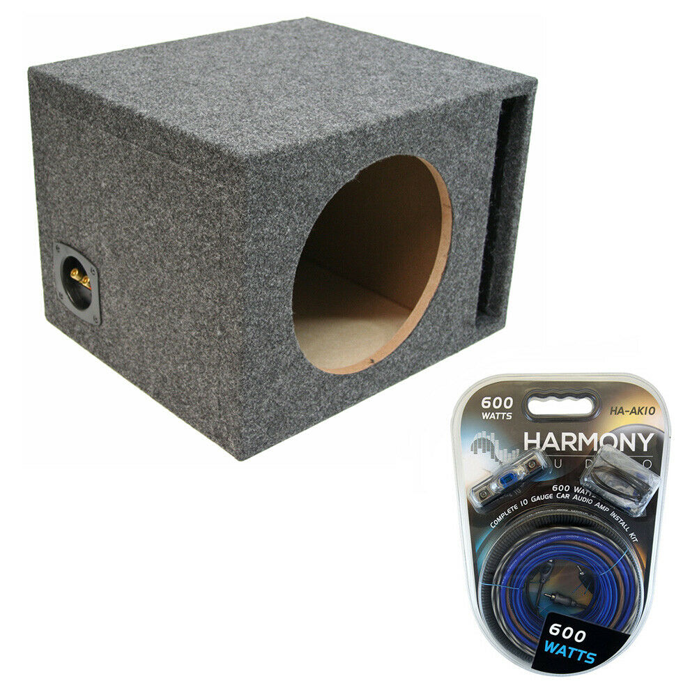 medium resolution of details about car audio single 10 ported subwoofer enclosure stereo speaker sub box amp kit