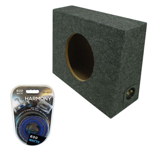 small resolution of details about single 10 sealed reg cab truck subwoofer box speaker enclosure carpeted amp kit