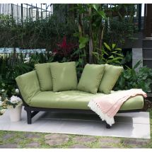 Green Outdoor Patio Furniture Set Chair Lounger Futon Deck