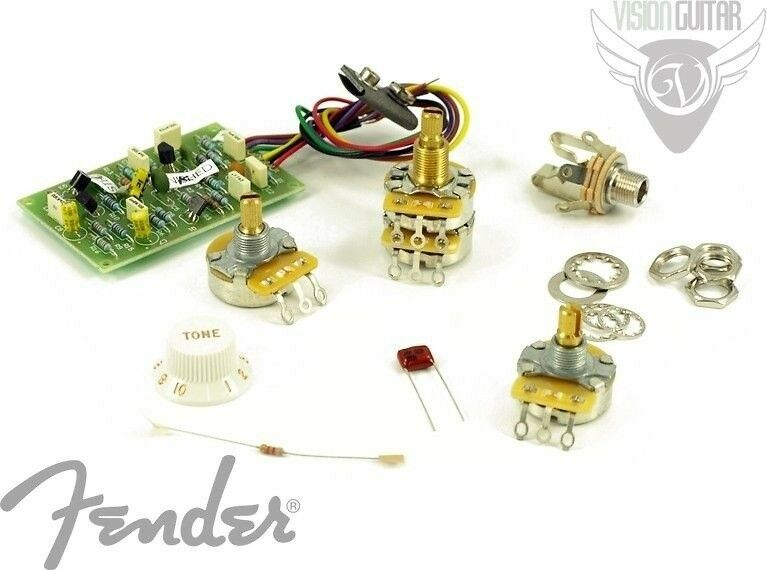 fender eric clapton strat wiring diagram auto meter new! genuine stratocaster mid boost kit 005-7577-000 (active electronics) | ebay