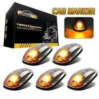 5pcs Clear Amber LED Cab Roof Marker Top Clearance ...