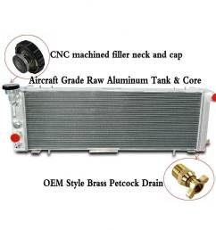 details about 3 row aluminum radiator fits jeep cherokee xj comanche 2 5 4 0 1991 2001 offroad [ 1000 x 1000 Pixel ]