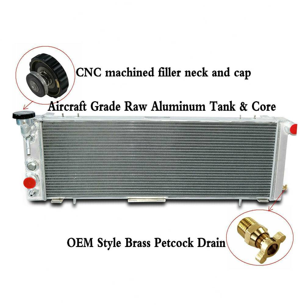 medium resolution of details about 3 row aluminum radiator fits jeep cherokee xj comanche 2 5 4 0 1991 2001 offroad