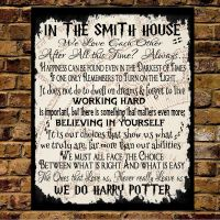 Personalised Metal Harry Potter Quotes In this House ...