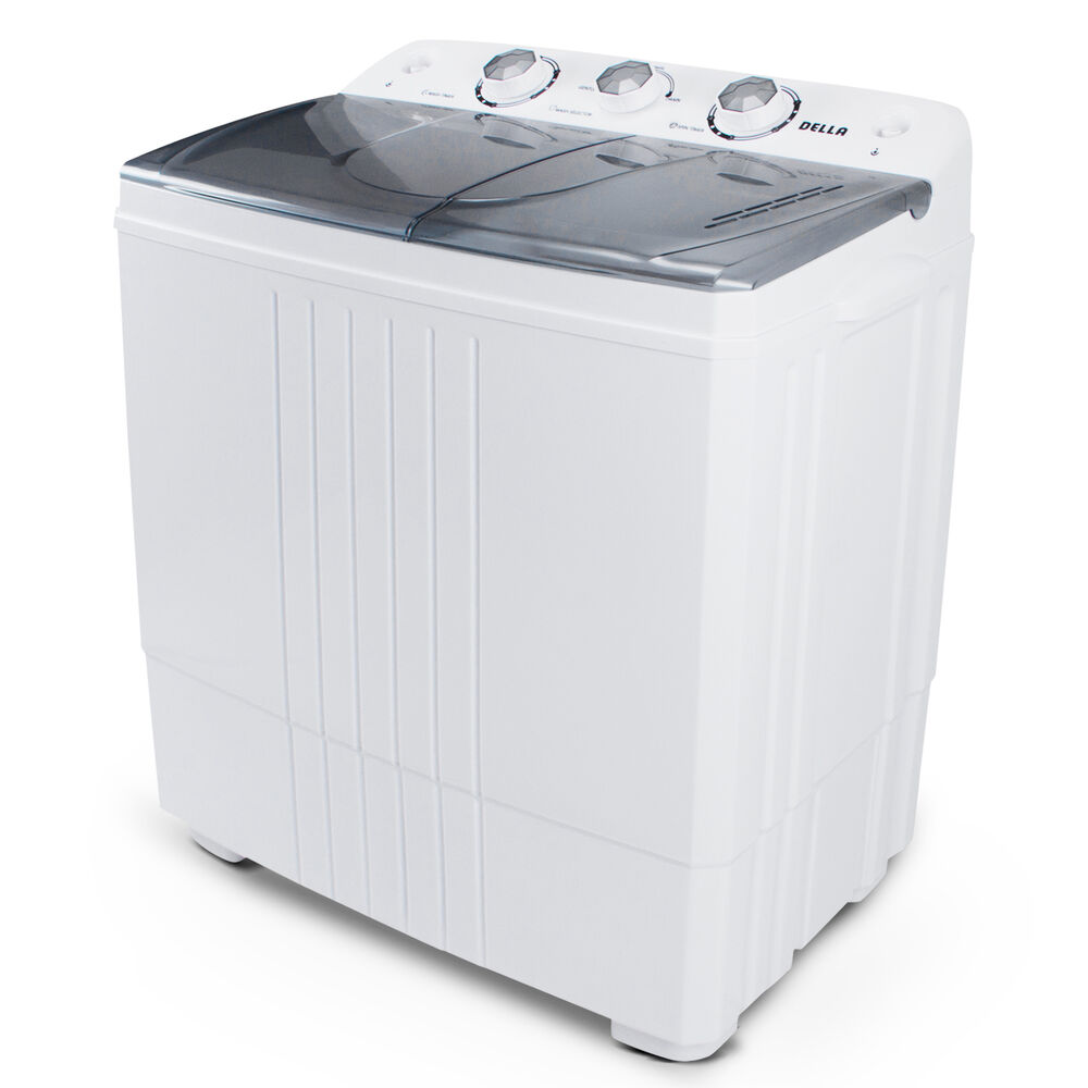 Portable Mini Washing Machine Compact Twin Tub 11lb Washer