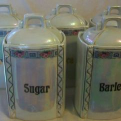 Ceramic Kitchen Canisters Different Types Of Countertops Vintage German Lusterware 5 Piece Canister Set | Ebay