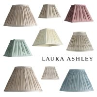 Laura Ashley Pleated 100% Silk Ceiling Pendant Table Lamp ...