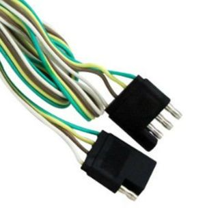 4 WAY ( 5 FT ) FLAT TRAILER LIGHT WIRE EXTENSION CORD PLUG