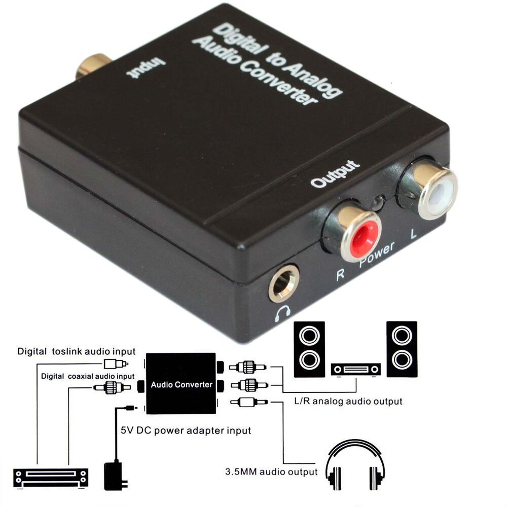 Analog To Digital Audio Converter Analog Rca L R To Digital Optical