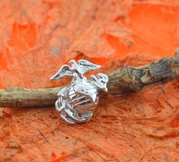 Eagle Globe Anchor Pin -sterling Silver- Hat Usmc