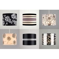 Fabric Diamante Floral Striped Ceiling Light Table Lamp ...