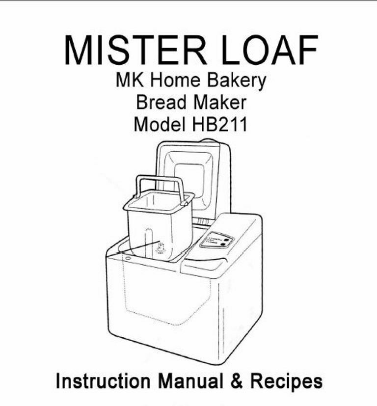MK Bread Machine Manual HB10W, HB12W, HB210, HB211, HB215
