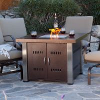 Fire Pit Table Fireplace Outdoor Furniture Patio LP Gas ...
