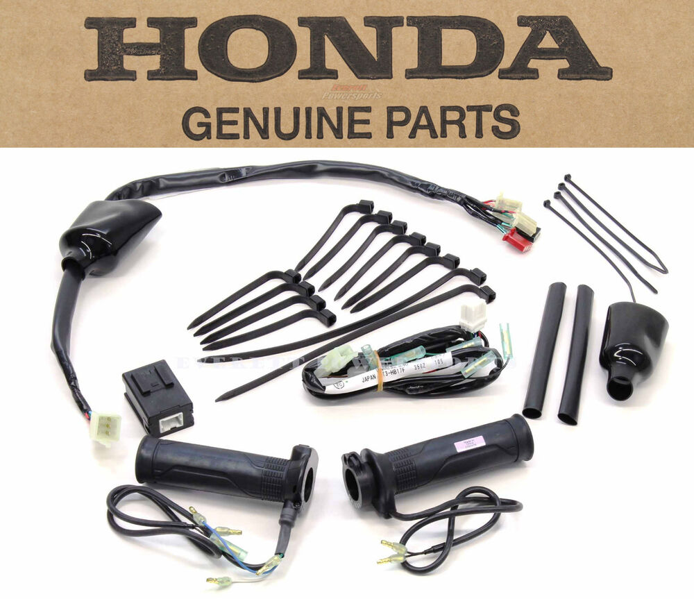 medium resolution of new genuine honda heated grips kit st1300 complete grip set and hardware n03 ebay