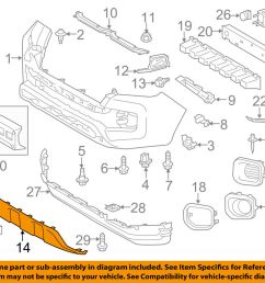 toyota oem 2016 tacoma front bumper lower trim panel 2009 tacoma parts diagram 2007 tacoma parts diagram [ 1000 x 798 Pixel ]
