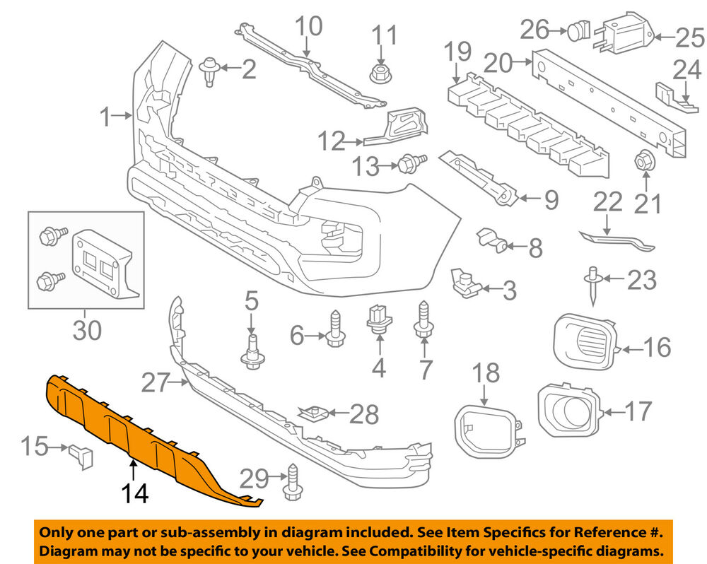 hight resolution of toyota oem 2016 tacoma front bumper lower trim panel 2009 tacoma parts diagram 2007 tacoma parts diagram