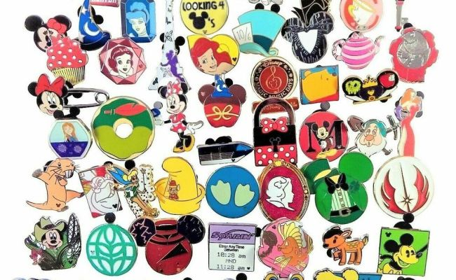 Disney Pin Trading 100 Assorted Pin Lot Brand New Pins
