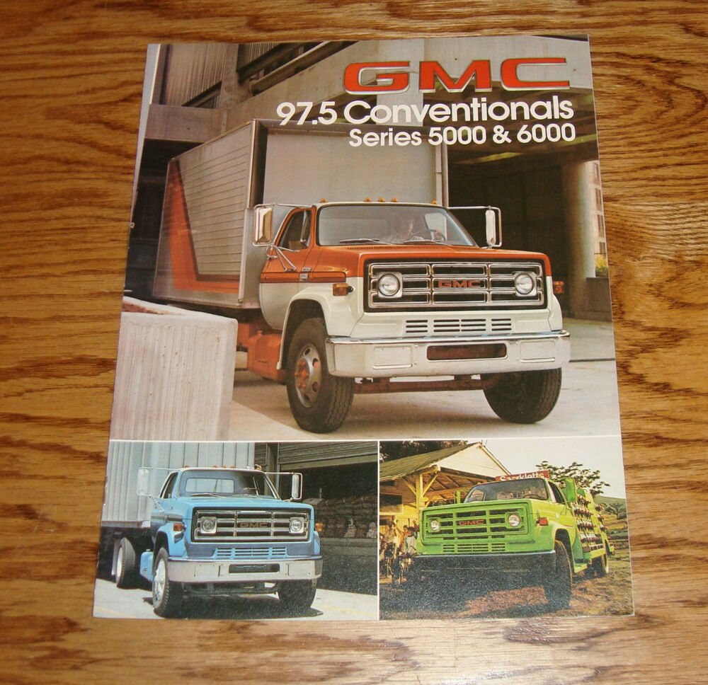 hight resolution of original 1978 gmc truck 97 5 conventional series 5000 6000 sales brochure 78 ebay