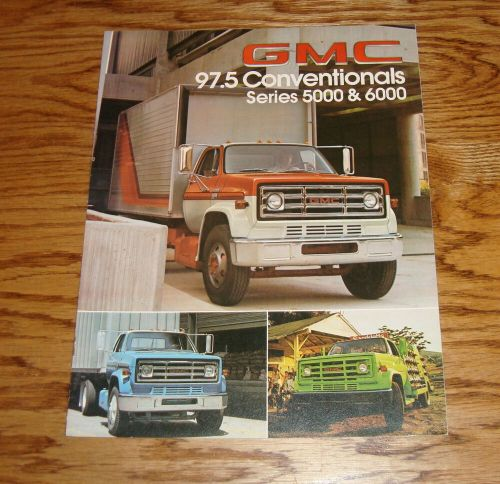 small resolution of original 1978 gmc truck 97 5 conventional series 5000 6000 sales brochure 78 ebay