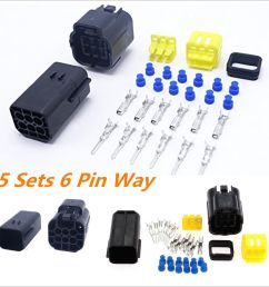 details about 5kit 6 pin way amp sealed waterproof electrical wire connector plug terminal set [ 1000 x 1000 Pixel ]