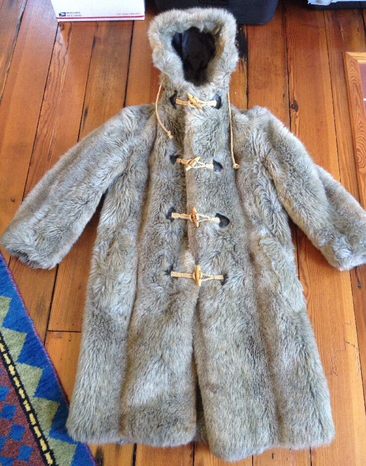 Vintage 70s Zero King Faux Fur Fully Lined Hooded Duffle