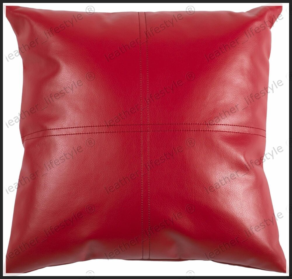 New Genuine Soft Lambskin Pure Leather Pillow Cushion