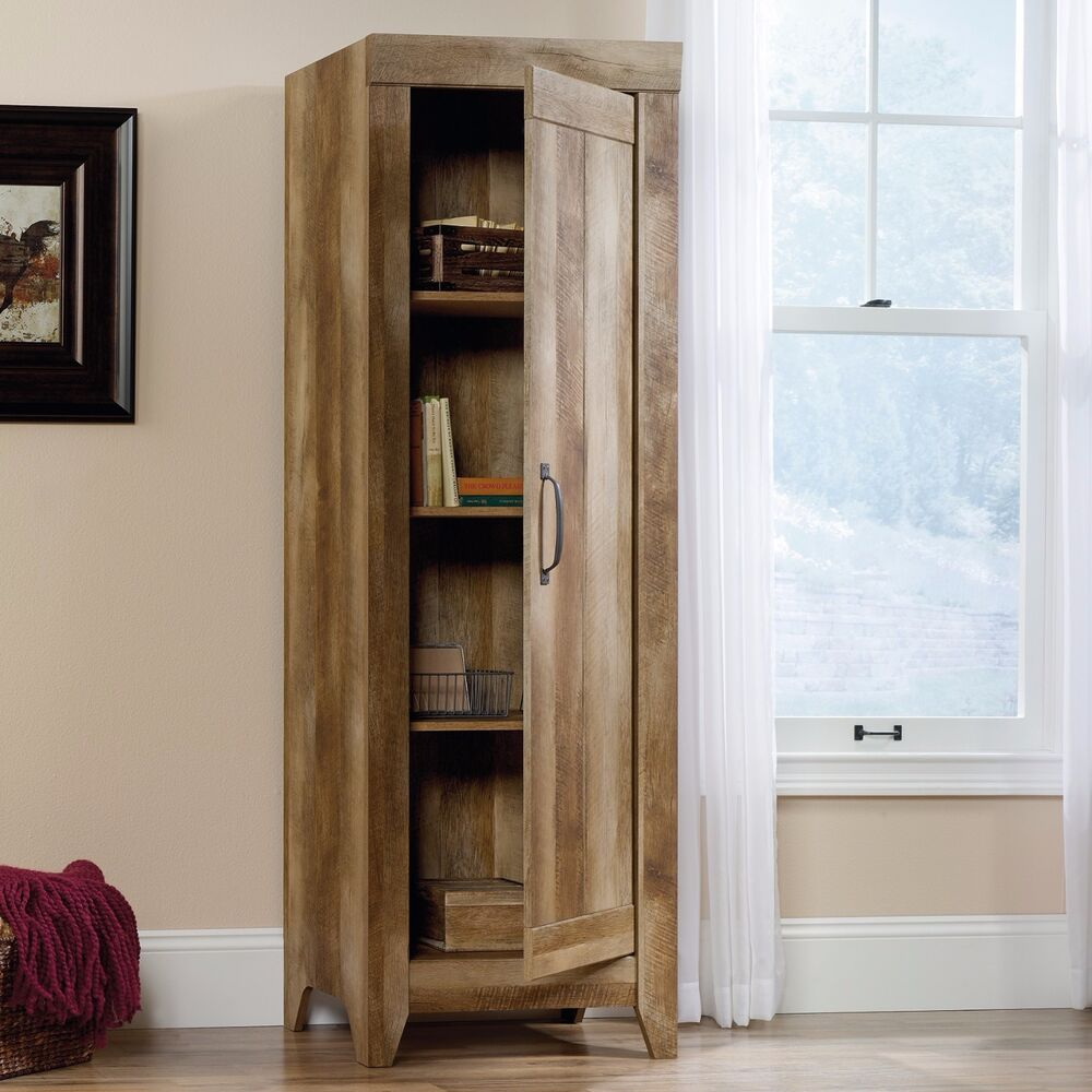 Kitchen Storage Cabinet Pantry Tall Rustic Food Organizer