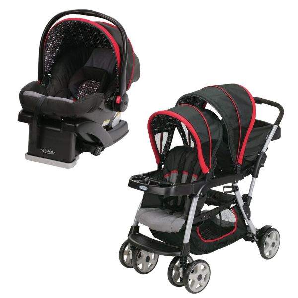 Graco Click Connect Double Seated Stroller And Car Seat Travel System Marco