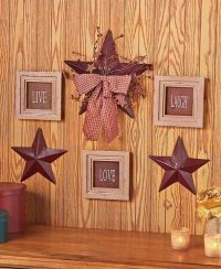 6-Pc Live Love Laugh Framed Signs & Country Stars Rustic ...