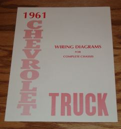 details about 1961 chevrolet truck wiring diagram manual for complete chassis 61 chevy [ 992 x 1000 Pixel ]