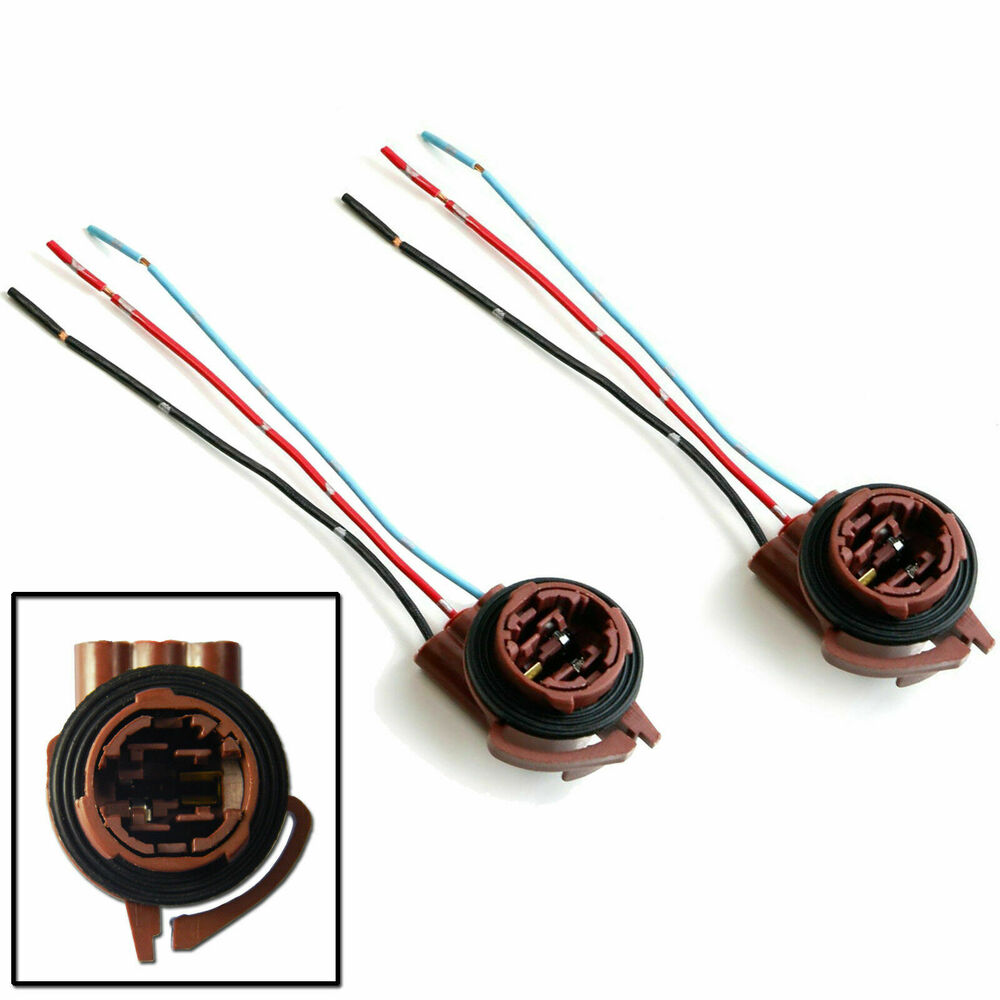 medium resolution of details about 2x 3157 4157 wiring harness socket adapter for turn signal tail brake light bulb