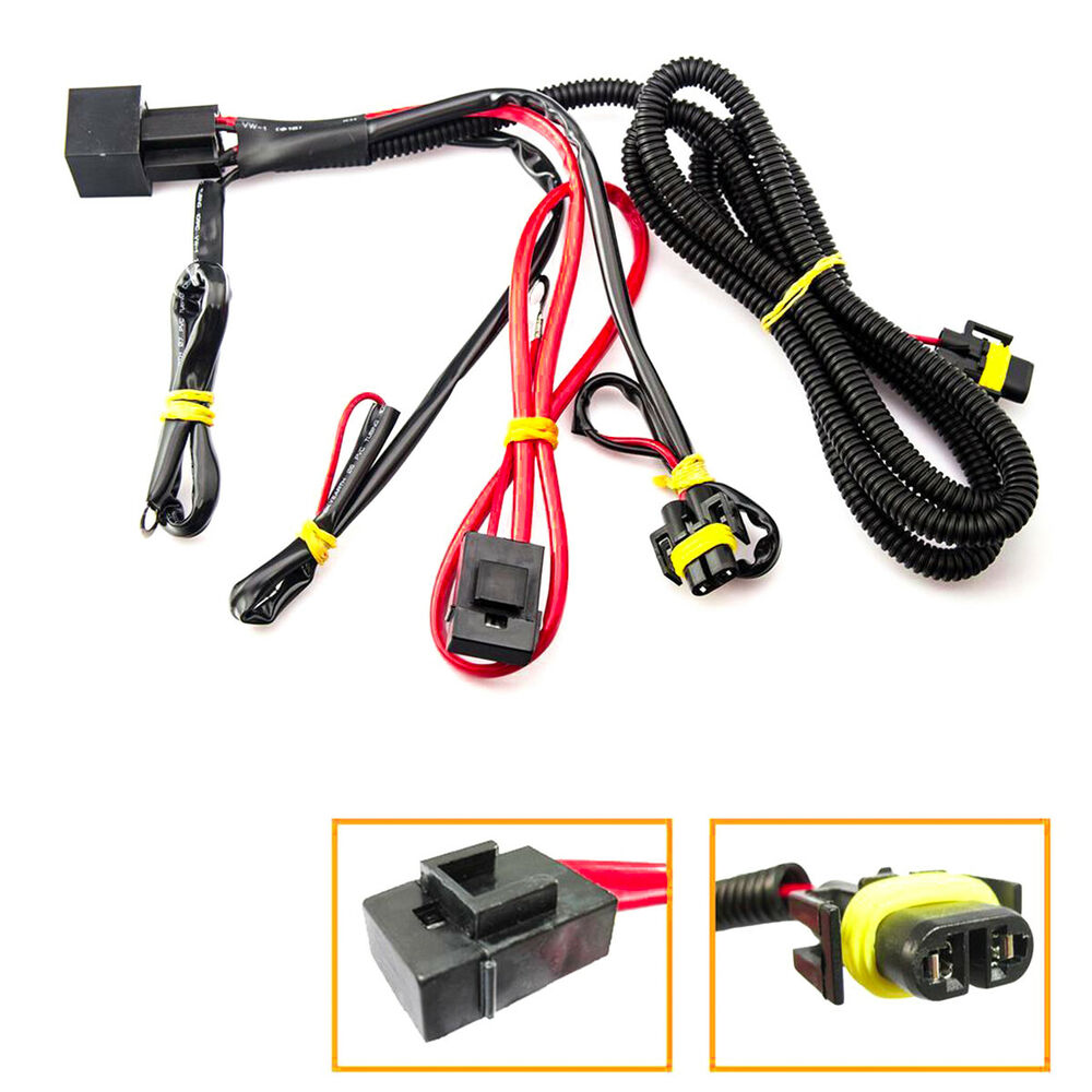 hight resolution of details about 880 h11 h8 relay wiring harness for hid conversion led kit add on fog light drl