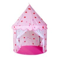 Girls Pink Princess Castle Children Kids Play Tent Toy In ...