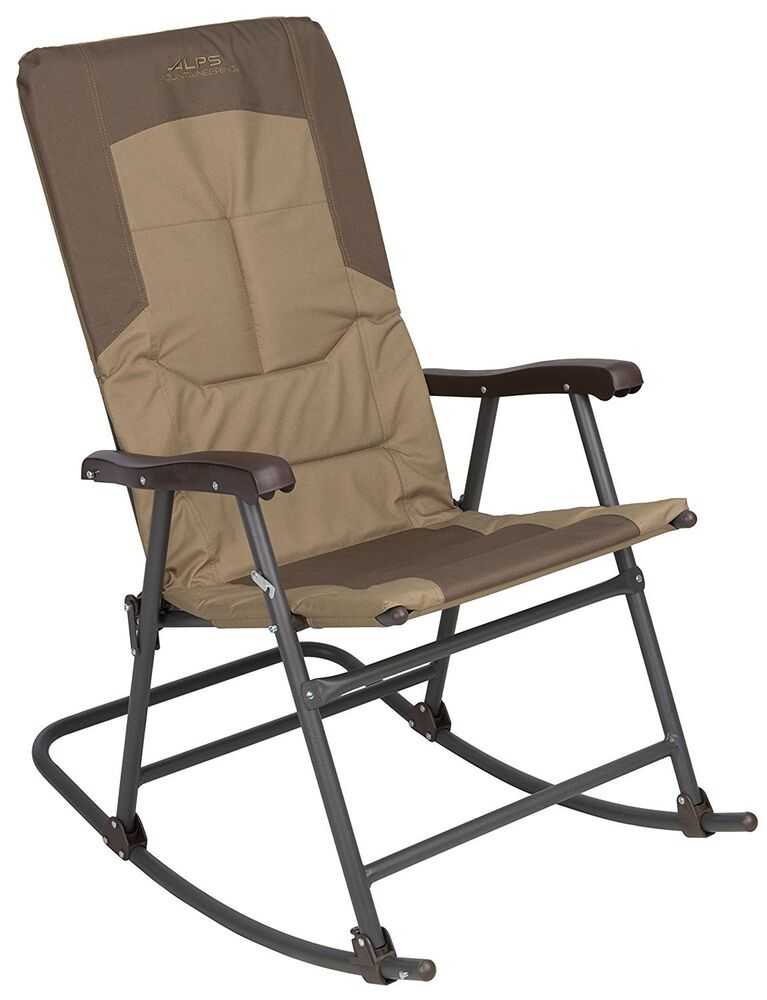 Camping Rocking Chair Outdoor Folding Travel Camping Steel