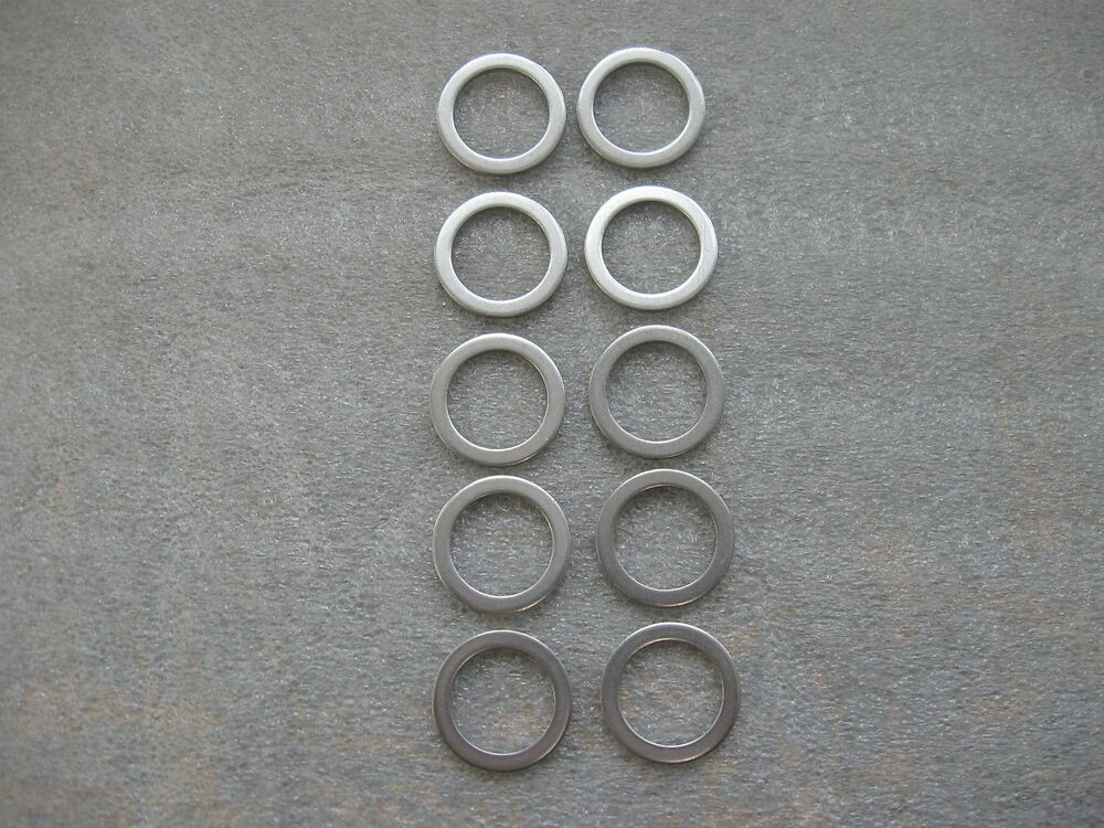 10 PC 20MM OIL DRAIN PLUG CRUSH WASHER GASKETS (P/N 94109