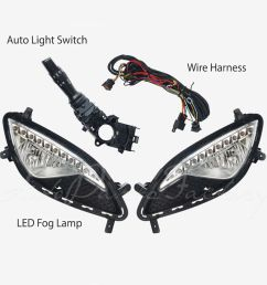 details about oem with led drl fog light lamp complete kit for hyundai genesis coupe 13 15 [ 1000 x 1000 Pixel ]