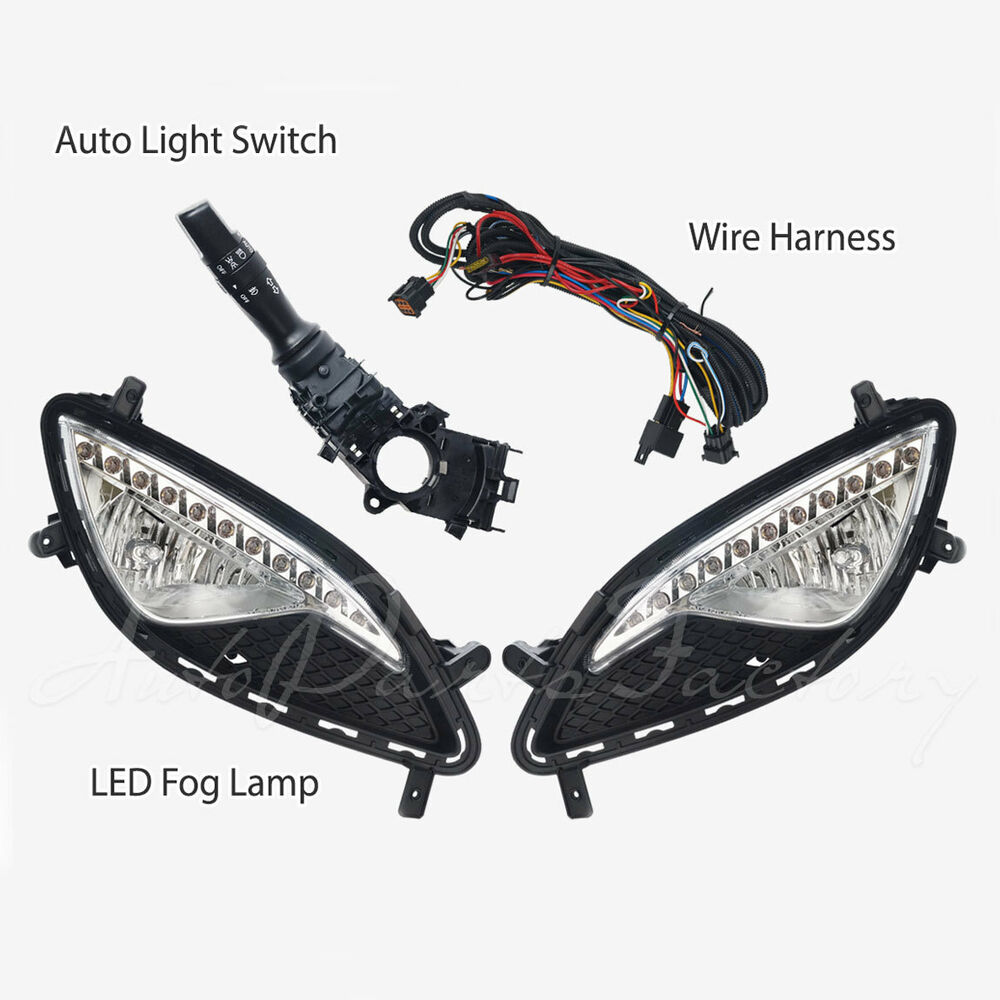 hight resolution of details about oem with led drl fog light lamp complete kit for hyundai genesis coupe 13 15