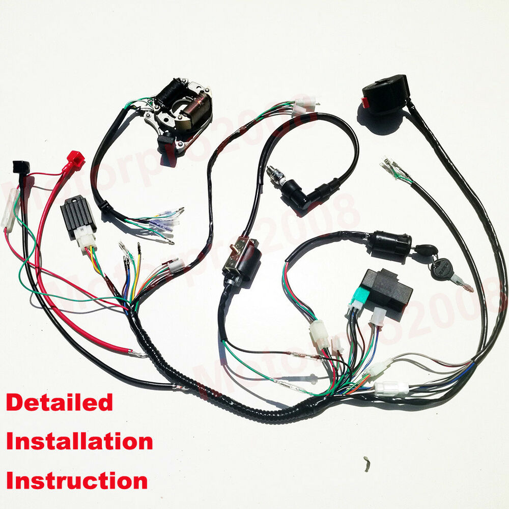 hight resolution of details about buggy wiring harness gy6 engine 125cc 150cc atv complete electrics gokart kandi
