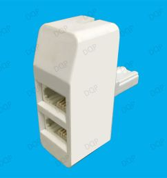details about twin bt socket telephone line splitter double 2 way double adapter connection [ 1000 x 1000 Pixel ]