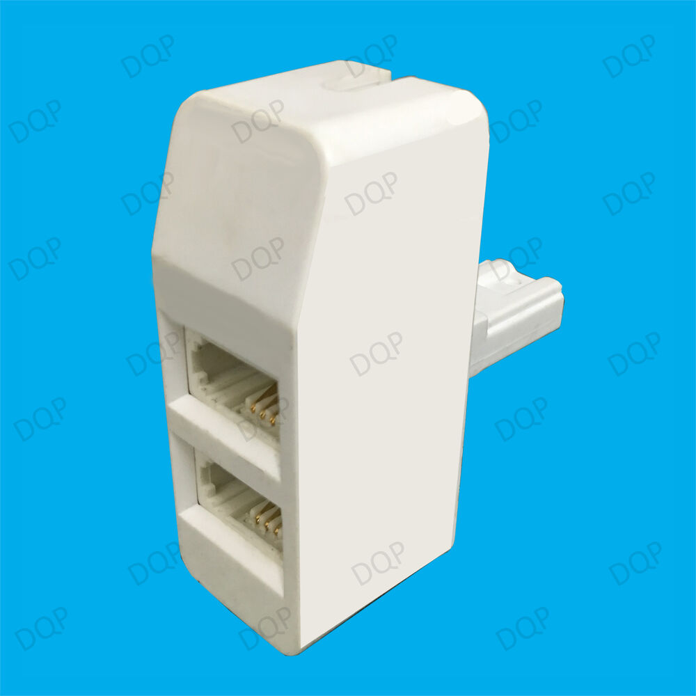 medium resolution of details about twin bt socket telephone line splitter double 2 way double adapter connection