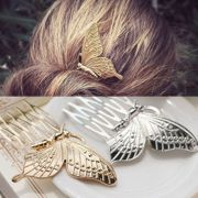 vintage fairy gold silver butterfly